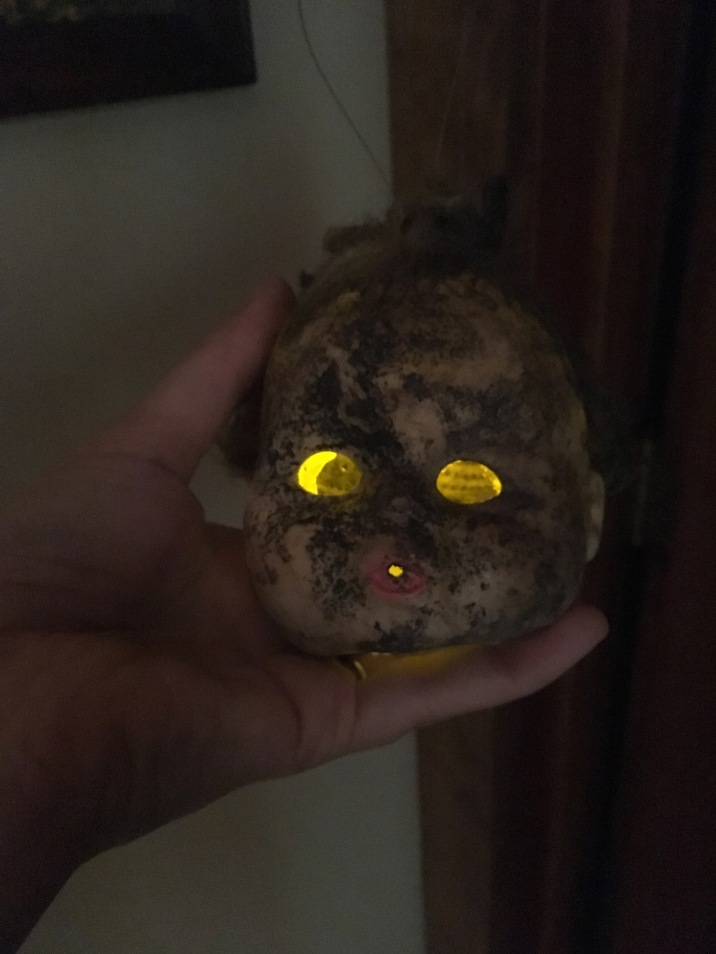 first head glowing
