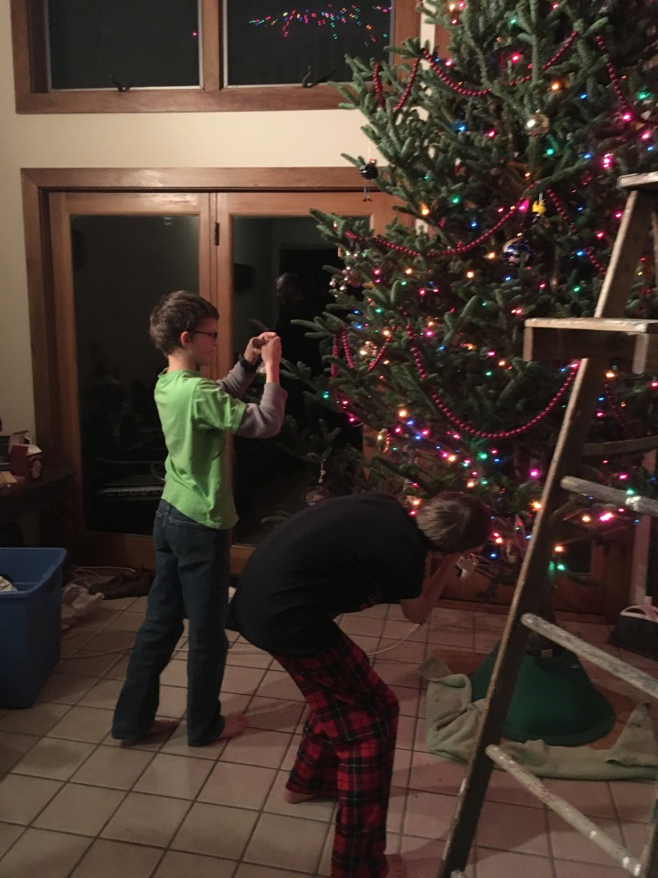 decorating first tree